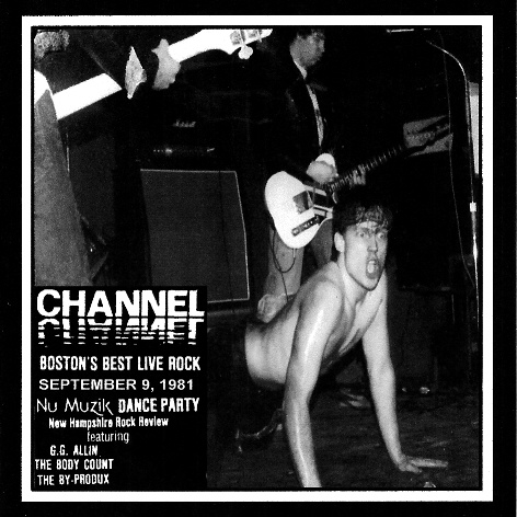 GG ALLIN & THE JABBERS at The Channel, Boston, MA, September 9, 1981 LIVE CD