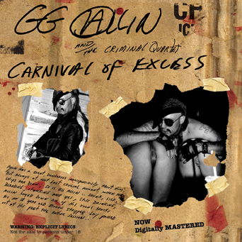 GG ALLIN & the Criminal Quartet Carnival Of Excess CD