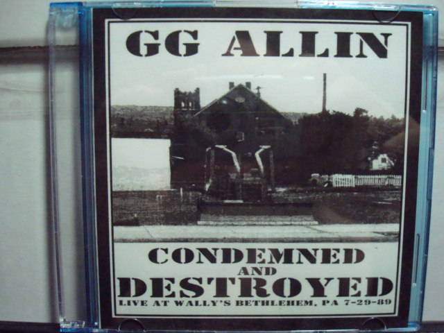 GG ALLIN & THE DISAPPOINTMENTS at WALLY'S, BETHLEHEM, PA JULY 29, 1989 CD