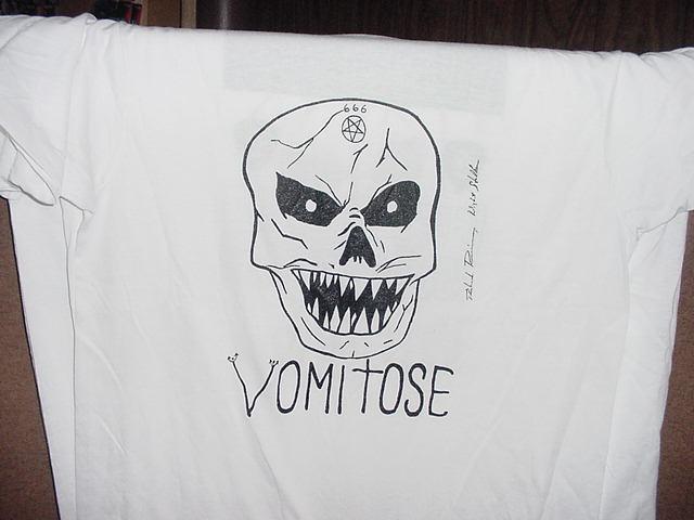 VOMITOSE Richard Ramirez Skull white T-SHIRT