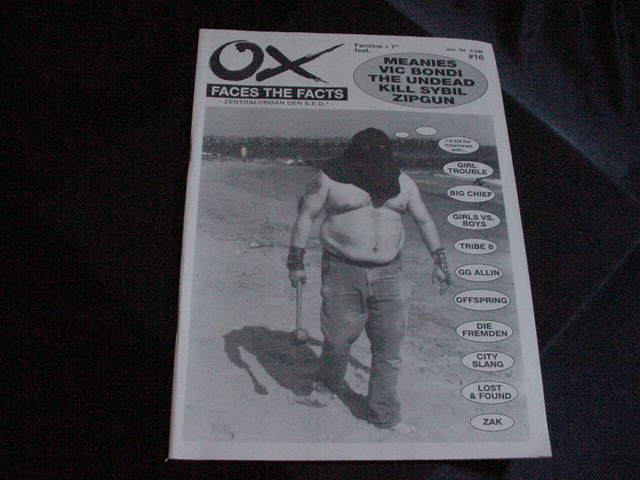 OX fan zine