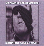GG ALLIN scumfuc alley trash STICKER