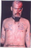 GG ALLIN bleeding STICKERS