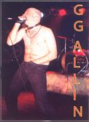 GG ALLIN live in Detroit STICKER