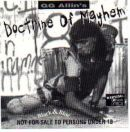GG Allin & the Cedar Street Sluts, & the Scumfuc's.Doctrine Of Mayhem