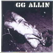 GG ALLIN laying on floor STICKER