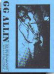 GG Allin Audio Tape Special # 1