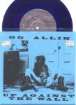 GG ALLIN Up Against The Wall - blue