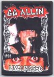 GG Allin LIVE and PISSED Hi Fi DVD