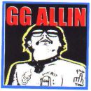 GG ALLIN square STICKER