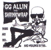 GG ALLIN shrinkwrap STICKER
