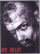 GG ALLIN headshot with tattoos STICKER